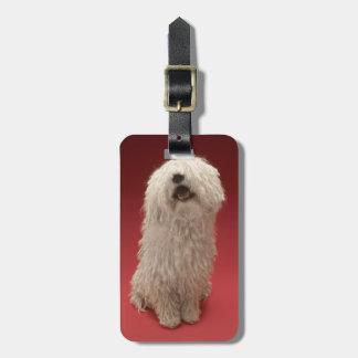 Cute Komondor Dog Luggage Tag