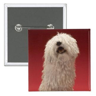Cute Komondor Dog Pinback Button