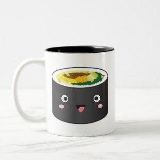Cute Korean Gimbap Two-Tone Coffee Mug