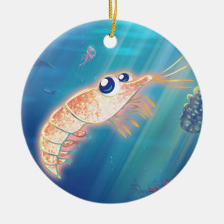 Cute Krill Ceramic Ornament