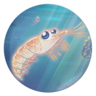 Cute Krill Melamine Plate