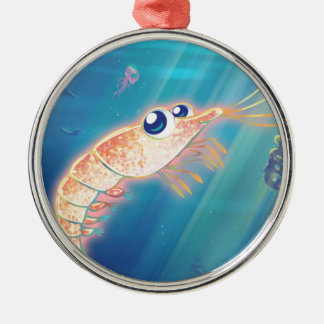 Cute Krill Metal Ornament
