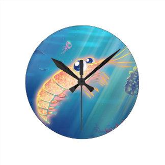 Cute Krill Round Clock