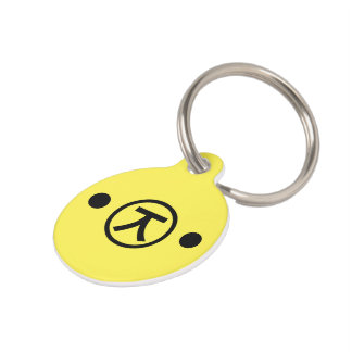 Cute Kuma Bear Kaomoji Japanese Emoticon Text Art Pet ID Tag