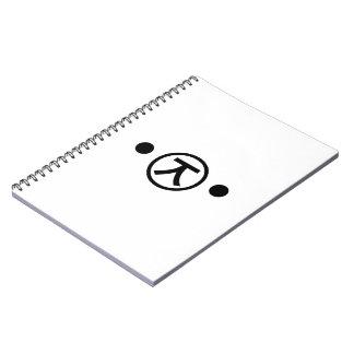 Cute Kuma Bear Kaomoji Japanese Emoticon Text Art Spiral Notebook