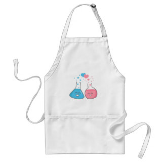 Cute lab flasks in love, we've got chemistry adult apron