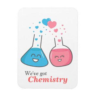 Cute lab flasks in love, we've got chemistry magnet