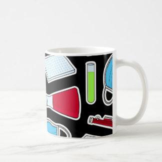 Cute Lab Pattern Black Background Mug