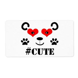 #Cute Label