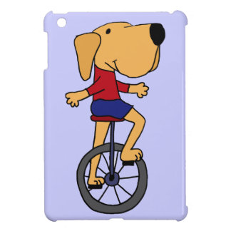 Cute Labrador Dog Riding Unicycle Cartoon iPad Mini Case