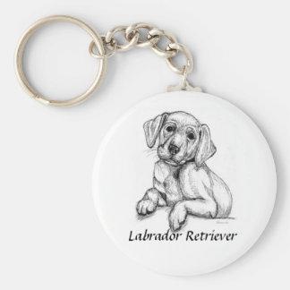 Cute Labrador Puppy Basic Round Button Keychain