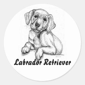 Cute Labrador Puppy Classic Round Sticker