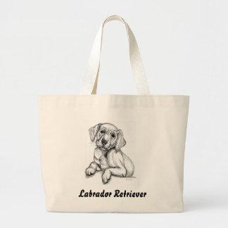 Cute Labrador Puppy Large Tote Bag