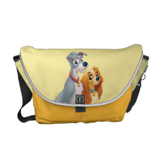 Cute Lady and the Tramp Courier Bag