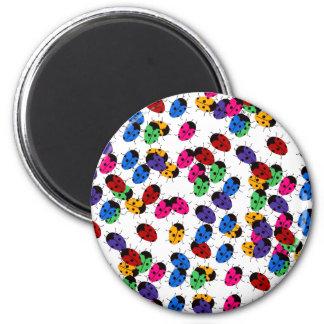Cute Lady Bug Design 2 Inch Round Magnet