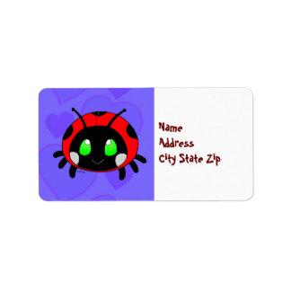 Cute Lady bug Address Label