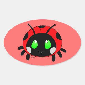 Cute Lady bug Oval Sticker