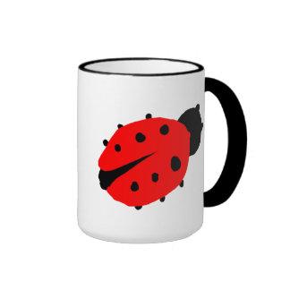 Cute Lady Bug Ringer Coffee Mug