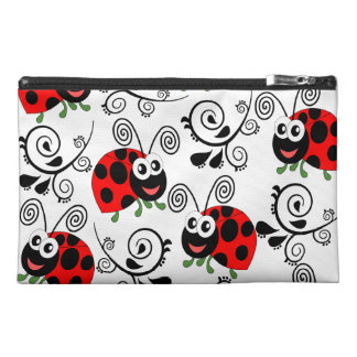 cute ladybird,edit background color travel accessory bag