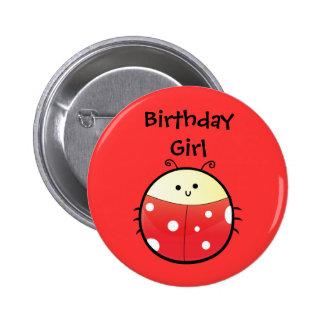 Cute Ladybird Pinback Button