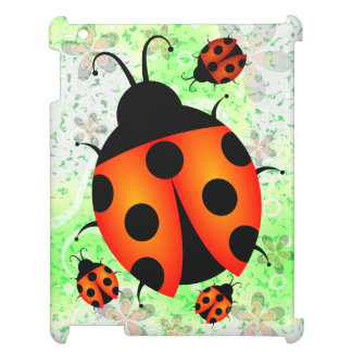 Cute Ladybirds or Ladybugs iPad Case Covers