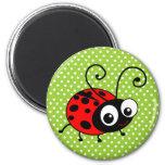 Cute Ladybug 2 Inch Round Magnet