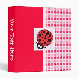 Cute Ladybug 3 Ring Binder