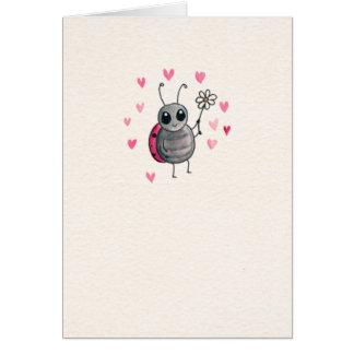Cute Ladybug and Daisy Blank Card