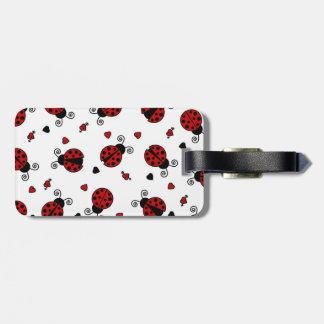 Cute Ladybug and Hearts Pattern Bag Tag