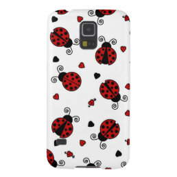 Cute Ladybug and Hearts Pattern Case For Galaxy S5