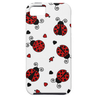 Cute Ladybug and Hearts Pattern iPhone SE/5/5s Case