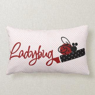 Cute Ladybug and Lipstick Throw Pillows