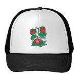 cute ladybug and strawberries trucker hat