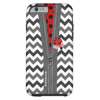 Cute Ladybug and Zipper iPhone 6 case