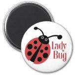 Cute Ladybug Animal Print 2 Inch Round Magnet