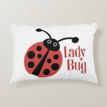 Cute Ladybug Animal Print Decorative Pillow