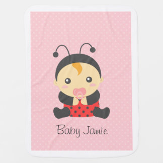 Cute Ladybug Baby Girl, For Toddlers Baby Blanket