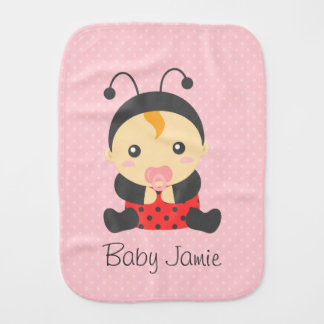 Cute Ladybug Baby Girl, For Toddlers Burp Cloth