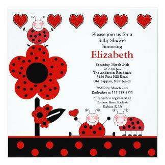 cute ladybug baby shower invitation