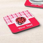 Cute Ladybug Beverage Coaster