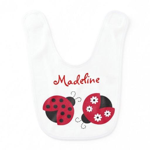 Cute Ladybug Bib