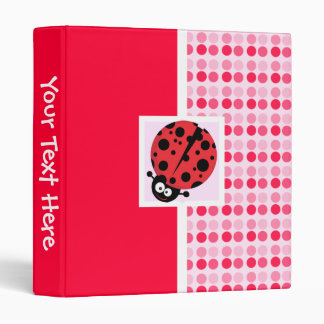Cute Ladybug Vinyl Binder