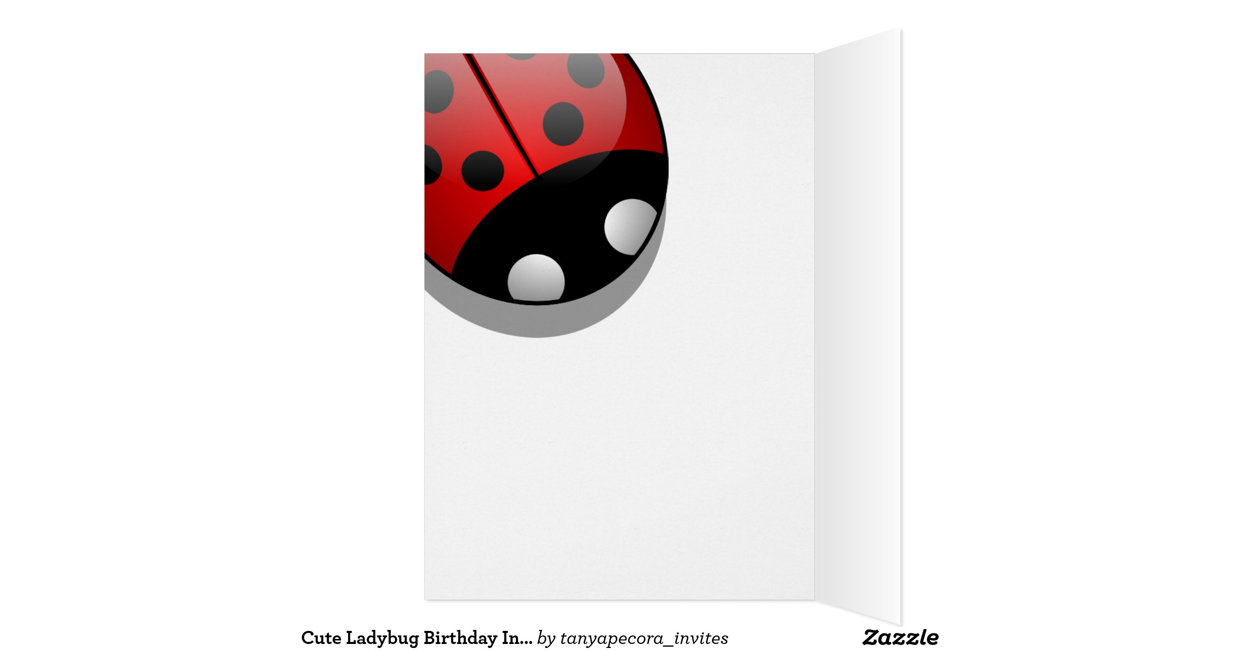 Ladybug Birthday Card Template By Invitation Greeting