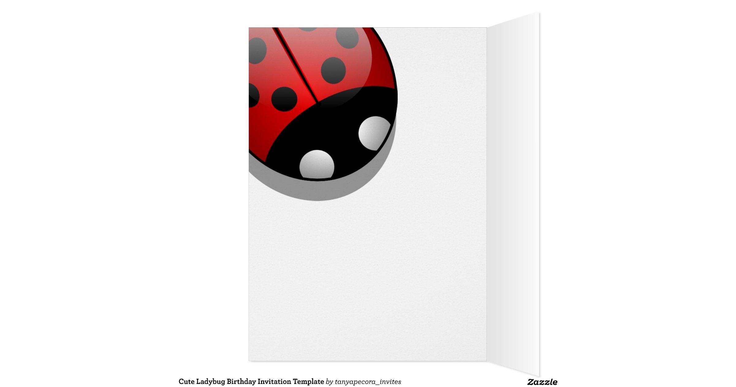 ladybug birthday card template - 28 images - free printable ...