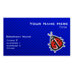 Cute Ladybug; Blue Double-Sided Standard Business Cards (Pack Of 100)