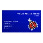 Cute Ladybug; Blue Business Card