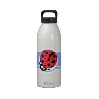 Cute Ladybug Blue Water Bottles