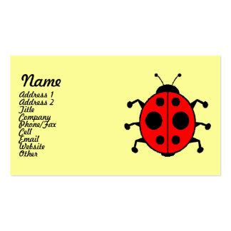 Cute Ladybug Business Cards