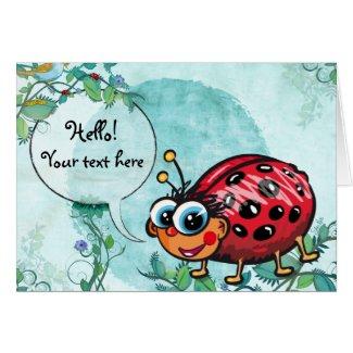 Cute LadyBug - card card