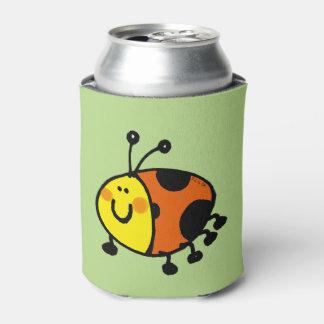 cute ladybug cartoon can cooler